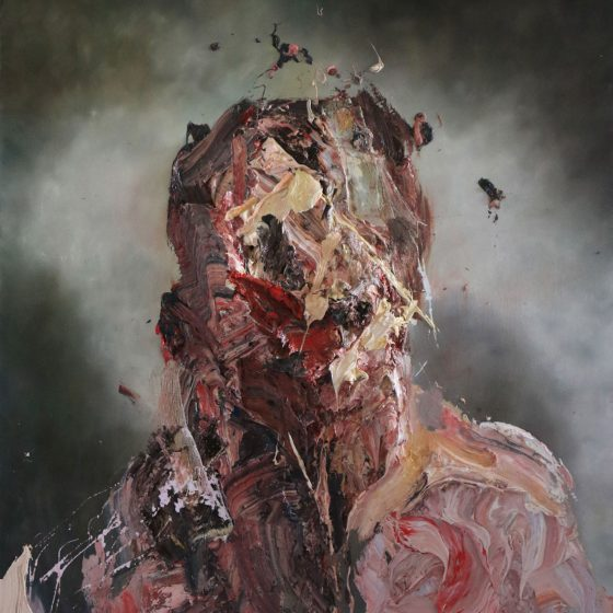 1.ANTONY MICALLEF 安東尼·麥克勒夫 b. 1975 Self-Portrait with Green綠色自畫像, 2015 Oil with beeswax on French linen法國亞麻布面蜂蠟油畫 130 x 110 cm 51 1_8 x 43 1_4 in.