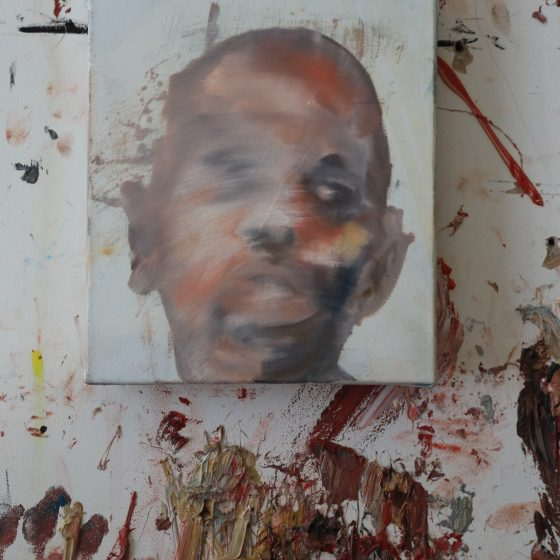17.Antony Micallef 安東尼·麥克勒夫b. 1975 Self-Portrait 1自畫像 一, 2014 Oil on linen 亞麻布面油畫30 x 25.5 cm; 11 3:4 x 10 in.