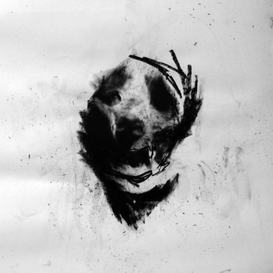 Study of a head. Charcoal on paper. 60cm x 60cm 2009