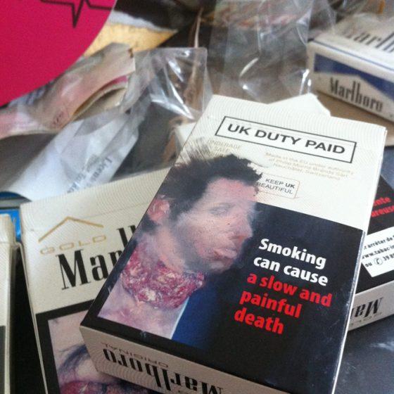 Self Portrait on Marlboro Cigarette Box